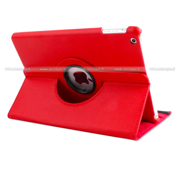 Etui en cuir apple ipad air housse cover rouge for Housse neoprene ipad air
