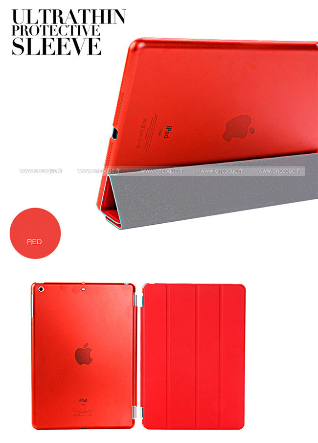 Etui en cuir apple ipad air housse rouge for Housse neoprene ipad air