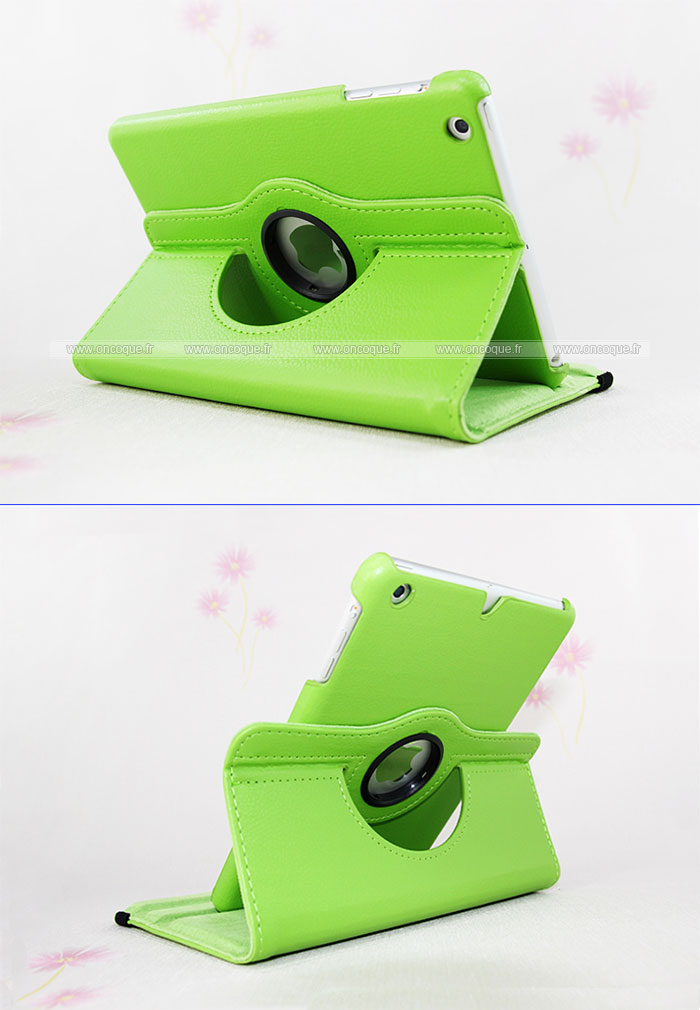 Etui en cuir apple ipad mini 2 housse verte for Housse i pad mini