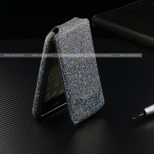 Etui en cuir apple iphone 3g housse silver for Housse iphone 3gs