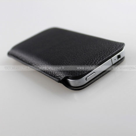 etui en cuir apple iphone 4 housse pochette