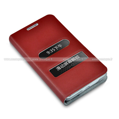 Etui en cuir samsung i9100 galaxy s2 housse rouge for Housse samsung galaxy s2