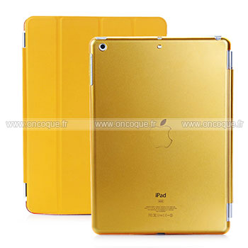 Etui en cuir apple ipad air housse golden for Housse neoprene ipad air
