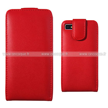 Etui en cuir blackberry z10 housse rouge for Housse blackberry curve