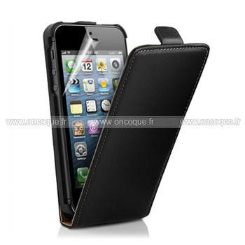 etui en cuir housse apple iphone 5 coque