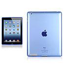 Coque Apple iPad 3 Grid Gel Silicone Housse - Bleu