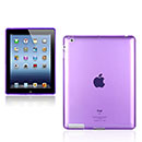 Coque Apple iPad 3 Grid Gel Silicone Housse - Pourpre