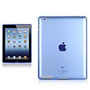 Coque Apple iPad 4 Grid Gel Silicone Housse - Bleu