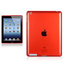 Coque Apple iPad 4 Grid Gel Silicone Housse - Rouge