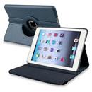 Coque Apple iPad Mini Etui en Cuir Housse Cover - Bleu