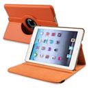 Coque Apple iPad Mini Etui en Cuir Housse Cover - Orange