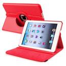 Coque Apple iPad Mini Etui en Cuir Housse Cover - Rouge