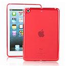 Coque Apple iPad Mini Silicone Transparent Housse - Rouge