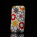 Coque Apple iPhone 3G 3GS Fleurs Silicone Housse Gel - Brown