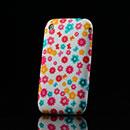 Coque Apple iPhone 3G 3GS Fleurs Silicone Housse Gel - Rose