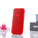 Coque Apple iPhone 3G Cercle Gel TPU Housse - Rouge