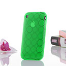Coque Apple iPhone 3G Cercle Gel TPU Housse - Verte