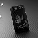 Coque Apple iPhone 3G Papillon Plastique Etui Rigide - Noire