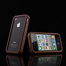 Coque Apple iPhone 4 Frame Silicone Gel Housse - Brown