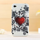 Coque Apple iPhone 4S Amour Silicone Housse Gel - Noire