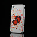 Coque Apple iPhone 4S Amour Silicone Housse Gel - Rouge