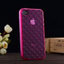 Coque Apple iPhone 4S Diamant TPU Gel Housse - Rose Chaud