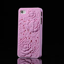 Coque Apple iPhone 4S Fleurs Plastique Etui Rigide - Rose