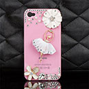 Coque Apple iPhone 4S Luxe Diamant Bling Fille Etui - Rose