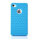 Coque Apple iPhone 4S Plus Sign Silicone Housse Gel - Bleue Ciel