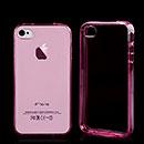 Coque Apple iPhone 4S Silicone Transparent Housse - Rose