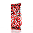 Coque Apple iPhone 5 Fleurs Filet Plastique Etui Rigide - Rouge