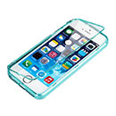 Coque Apple iPhone 5 Flip Silicone Gel Housse - Bleu