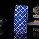 Coque Apple iPhone 5 Grille Aluminium Metal Plated Housse Rigide - Bleu