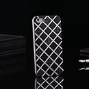 Coque Apple iPhone 5 Grille Aluminium Metal Plated Housse Rigide - Noire