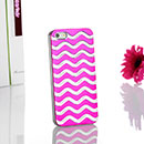 Coque Apple iPhone 5 Vague Aluminium Metal Plated Housse Rigide - Rose Chaud