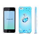 Coque Apple iPhone 5C Luxe Diamant Bling Etui Rigide - Bleue Ciel