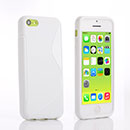 Coque Apple iPhone 5C S-Line Silicone Gel Housse - Blanche