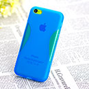 Coque Apple iPhone 5C X-Style Silicone Gel Housse - Bleu