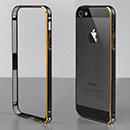 Coque Apple iPhone 5S Cadre Metal Plated Etui Rigide - Noire