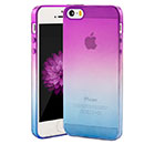 Coque Apple iPhone 5S Degrade Silicone Gel Housse - Pourpre