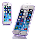 Coque Apple iPhone 5S Flip Silicone Gel Housse - Pourpre