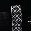 Coque Apple iPhone 5S Grille Aluminium Metal Plated Housse Rigide - Noire