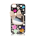 Coque Apple iPhone 5S Luxe Bowknot Diamant Bling Etui - Mixtes