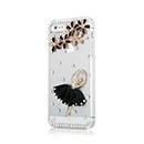 Coque Apple iPhone 5S Luxe Diamant Bling Fille Etui - Noire