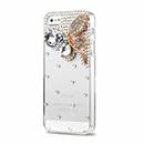 Coque Apple iPhone 5S Luxe Papillon Diamant Bling Etui Rigide - Blanche