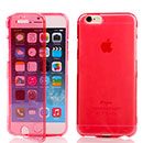 Coque Apple iPhone 6 Flip Silicone Gel Housse - Rouge