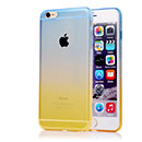 Coque Apple iPhone 6 Plus Degrade Silicone Gel Housse - Bleu