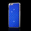 Coque Apple iPhone 6 Plus Diamant Bling Etui Rigide - Bleu