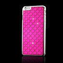 Coque Apple iPhone 6 Plus Diamant Bling Etui Rigide - Rose Chaud