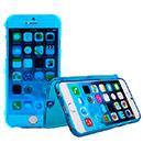 Coque Apple iPhone 6 Plus Flip Silicone Gel Housse - Bleu